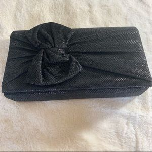 Style &Co NWOT Evening Bag Black Shimmer 100% Poly